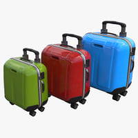 3D suitcase designer color model