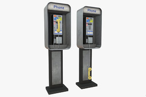 3D phonebooth payphone