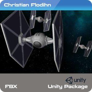 3D model tie fighter