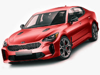 3D kia stinger gt model