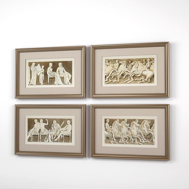 3D eichholtz prints antiquities athens