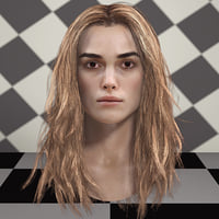 3d model Keira Knightley head V2