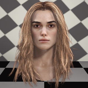 keira knightley head v2 3D model