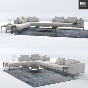 b italia sofa michel model