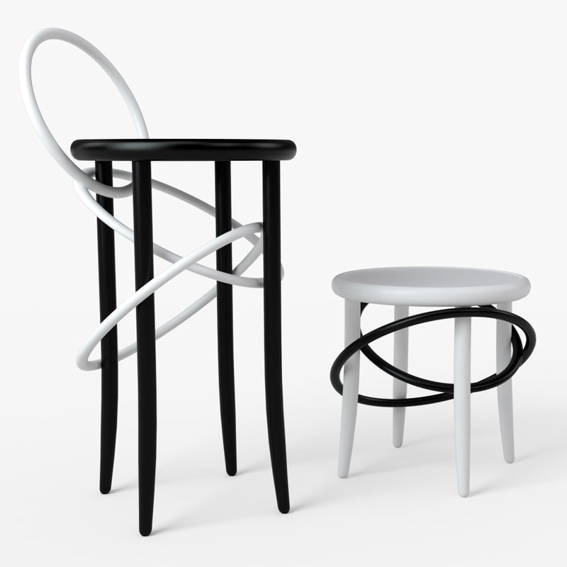 3D model gtv cirque stool chair