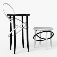 3D model gtv cirque stool chair