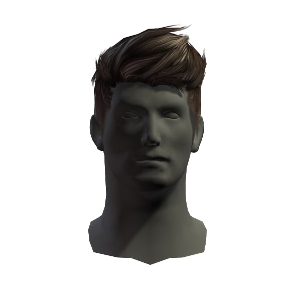 3D model hair man