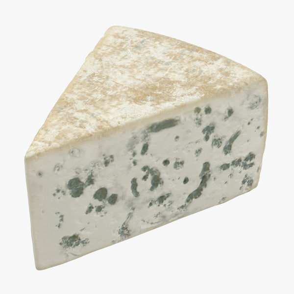 3D blue cheese piece model