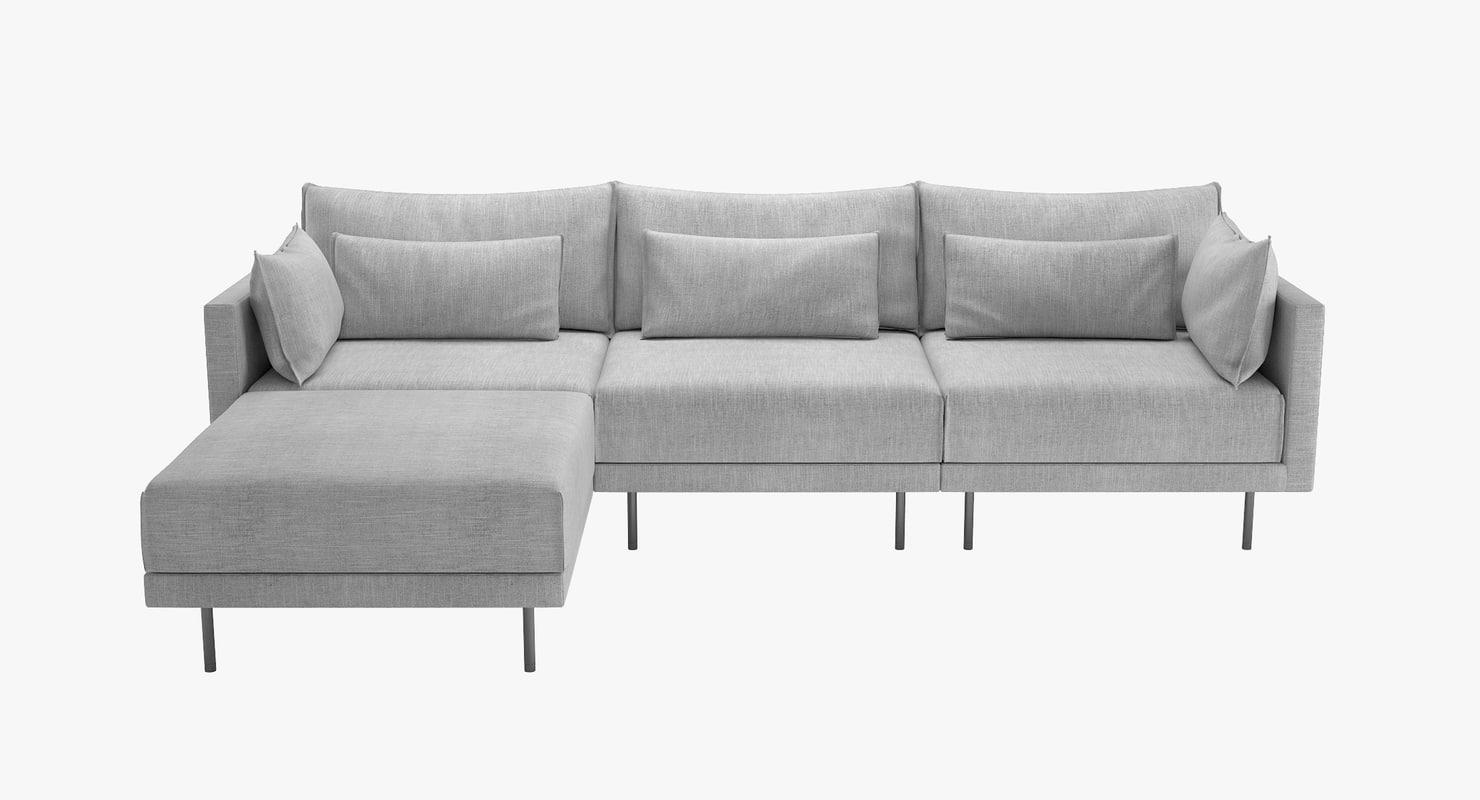 3D halsey sectional sofa