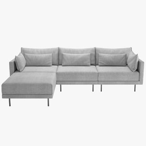 3D halsey sectional sofa