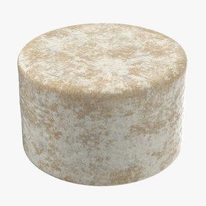 3D blue cheese wheel model