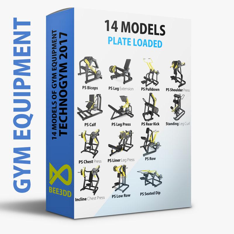 load - plate technogym 3D model