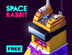 3D space rabbit model