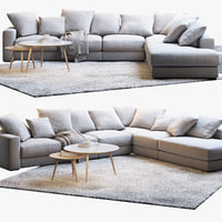 3D boconcept cenova sofa 2