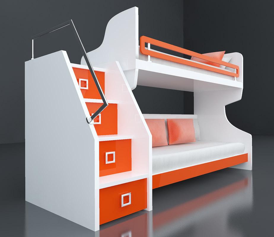 childs bed xirdalan 3D model