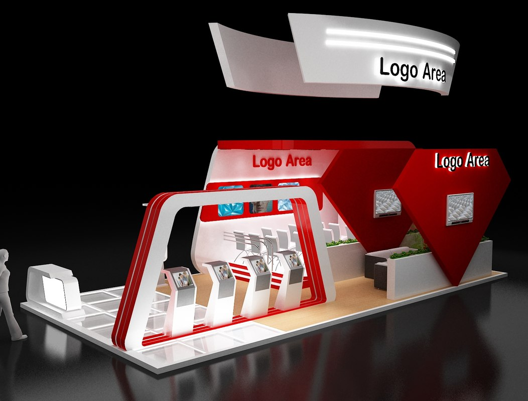 booth exhibition stand 3D model