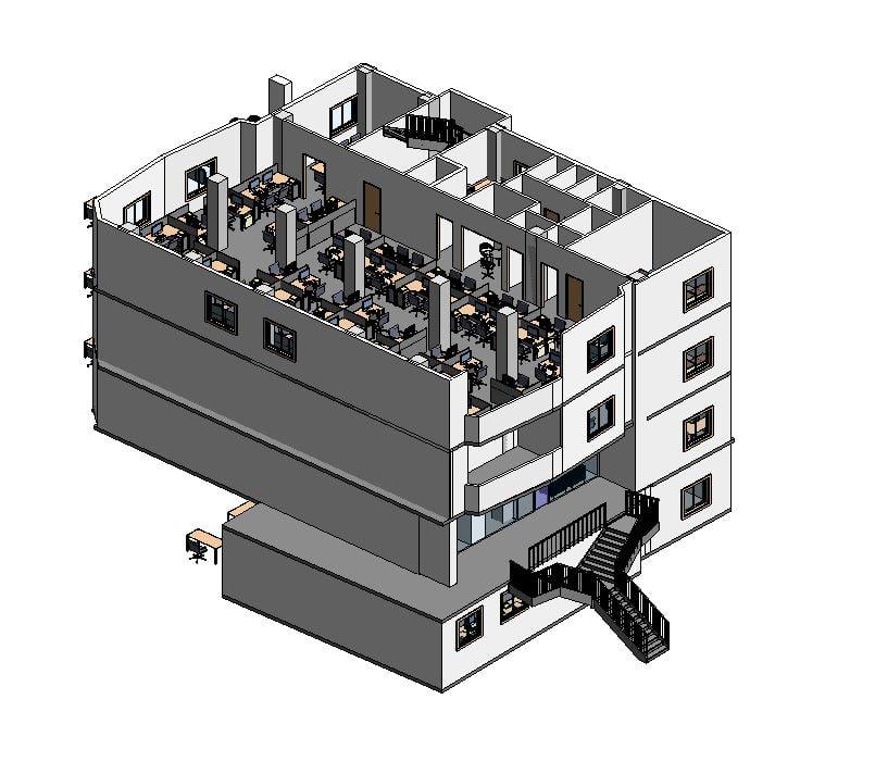 3D revit office model