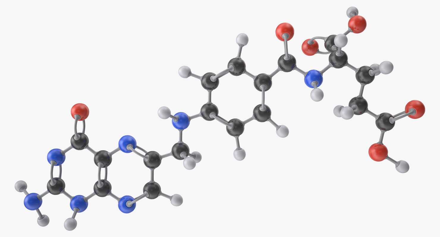 3D vitamin b9 molecule