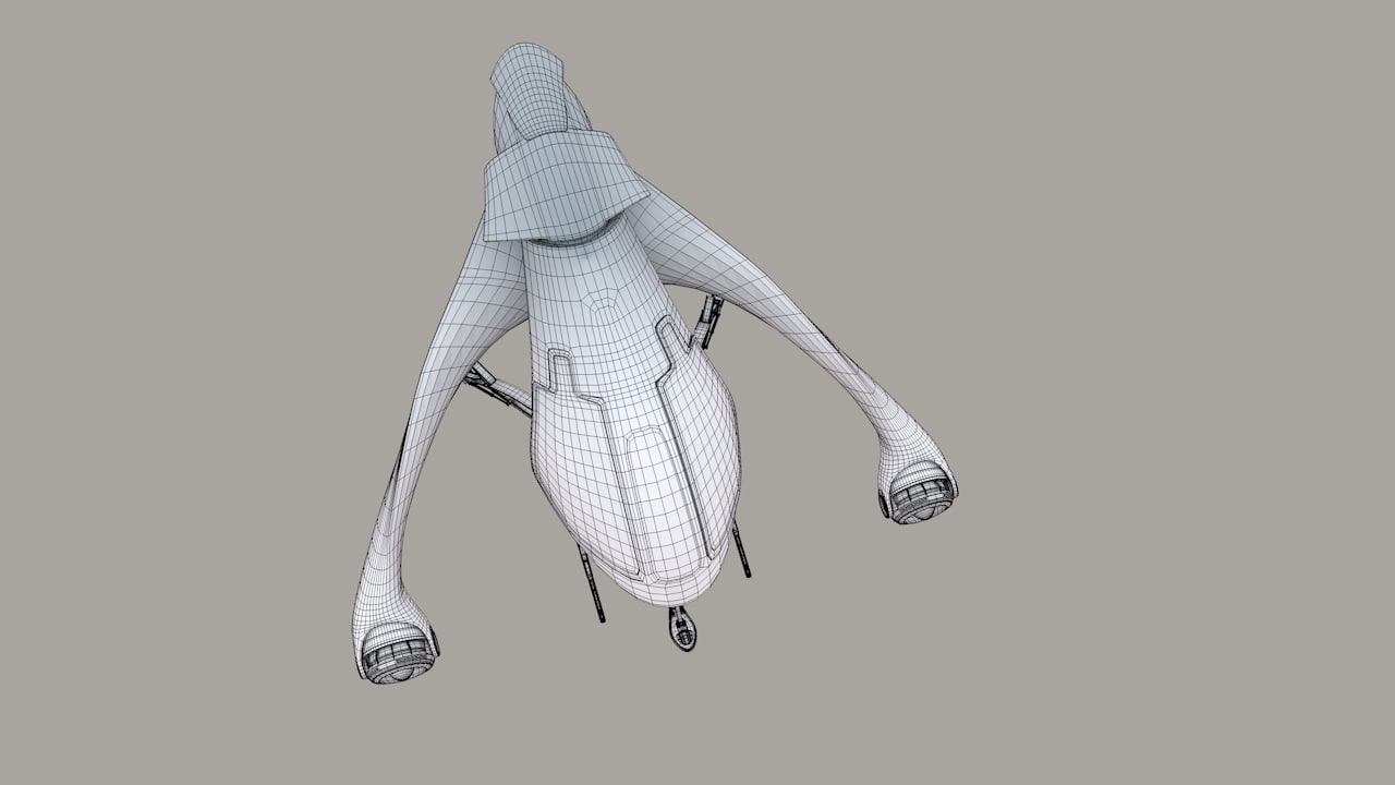 spaceship troopship 3D