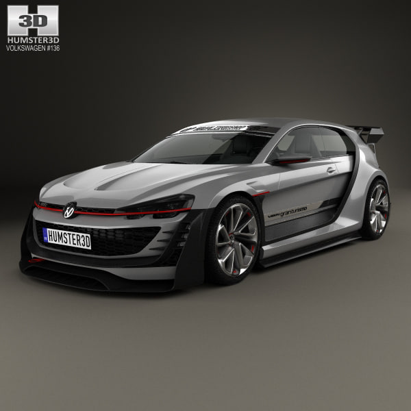 3D volkswagen gti gran model