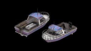 3D fuel boat model