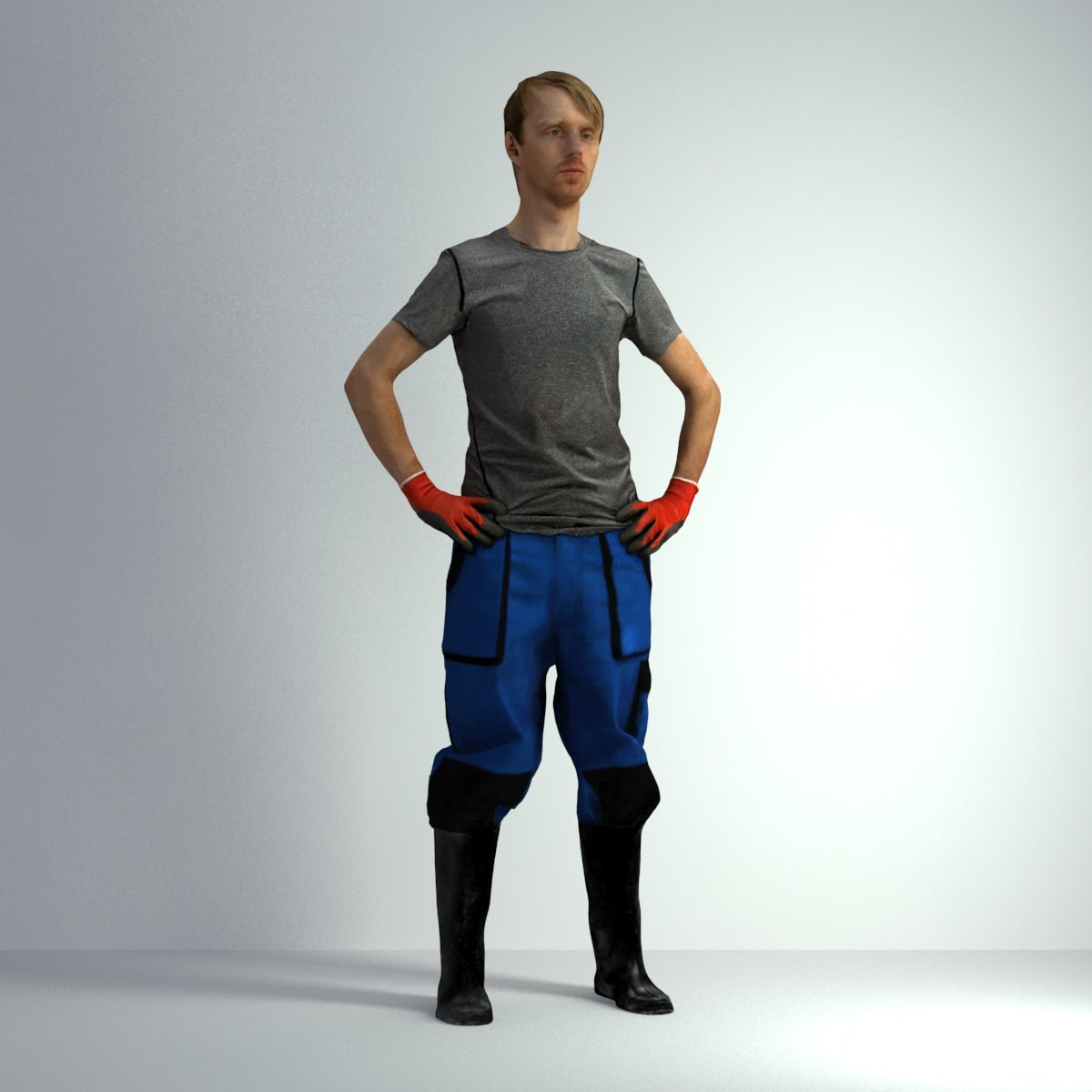 scanned 3dscan man 011 3D