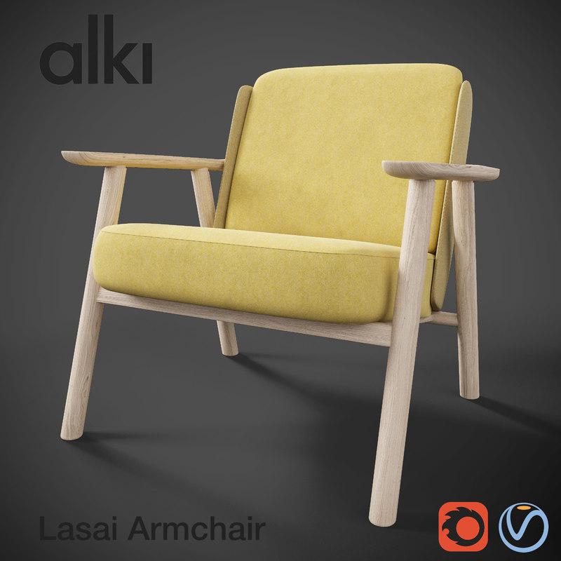 arm chair armchair 3D