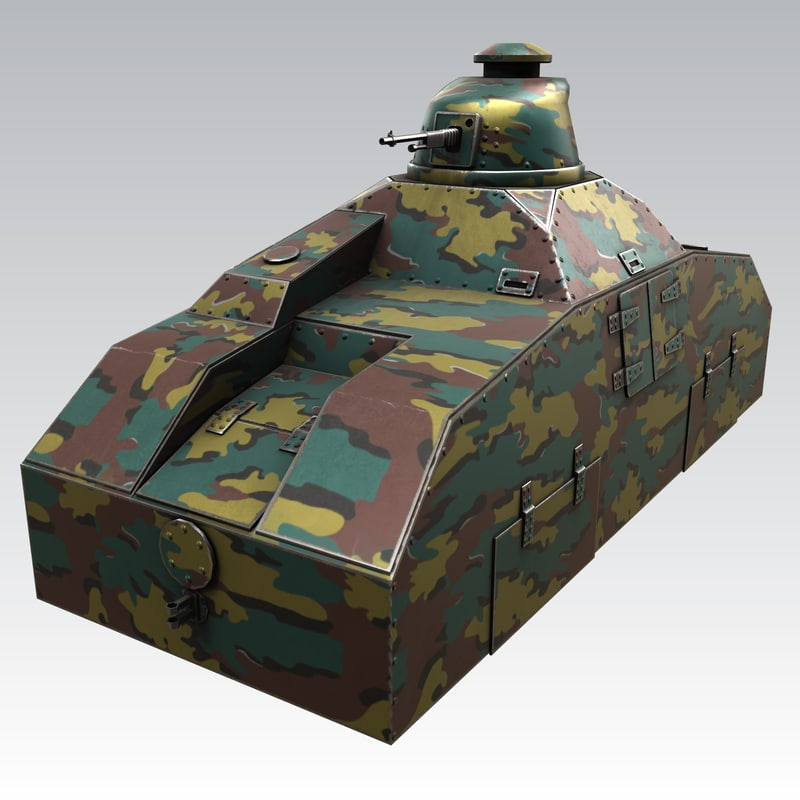 3D train armored renault