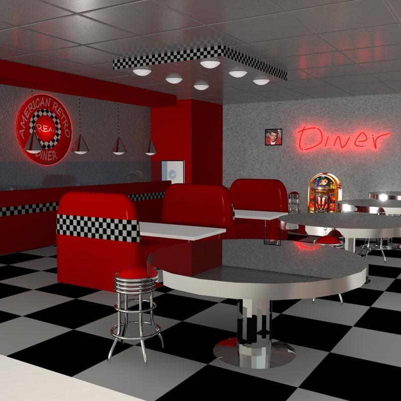 3D Diner Models | TurboSquid