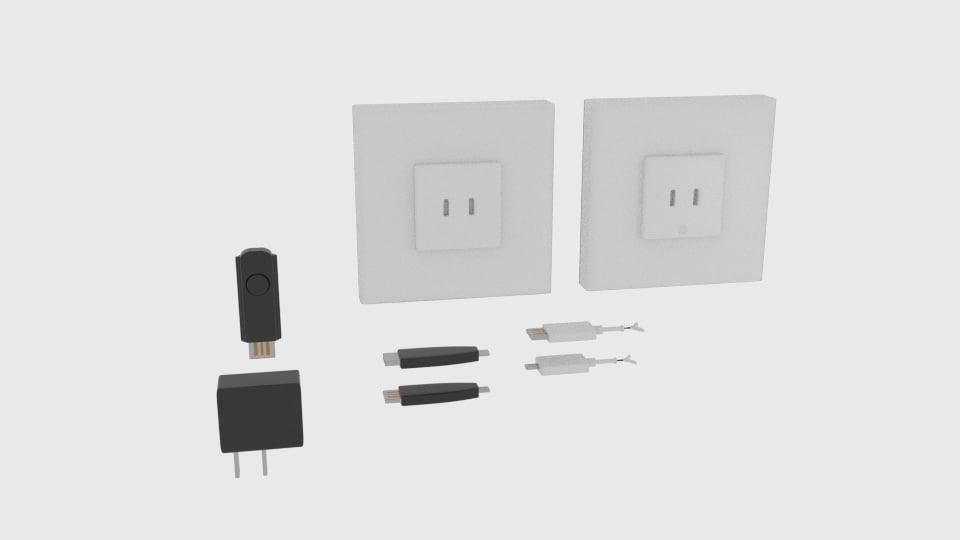 usb charger component 3D model