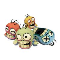 3D micro zombie brian model