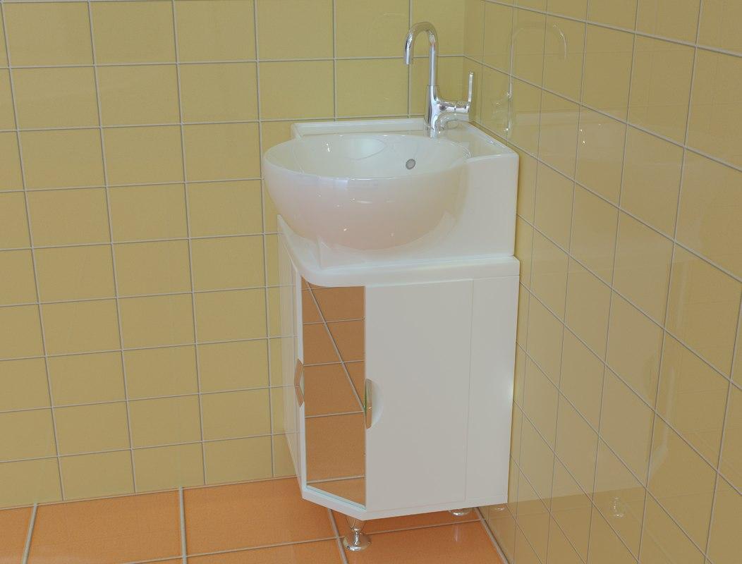 cabinet corner aqwella 3D model