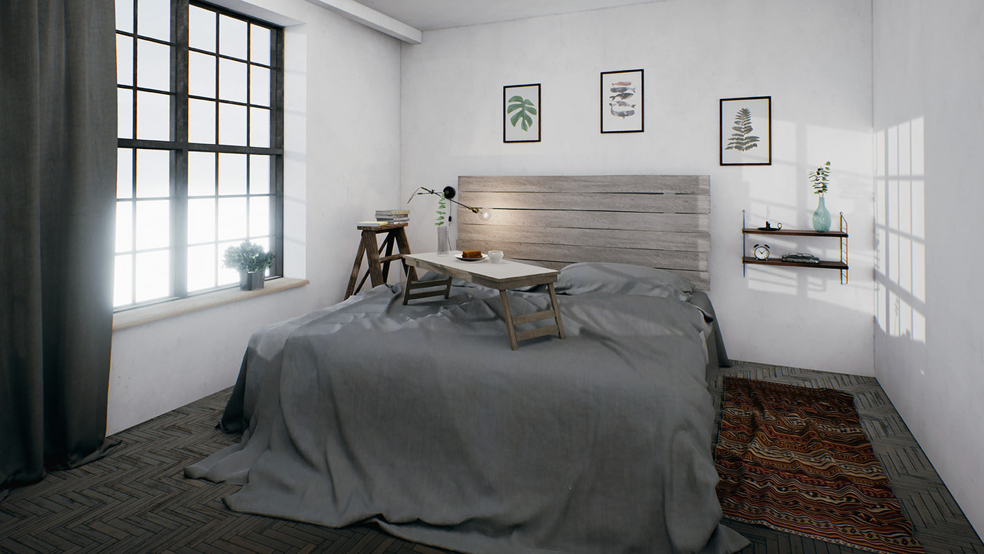 interior assets bedroom model