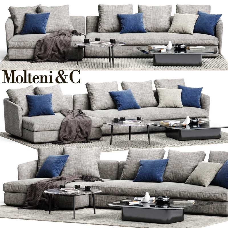 3D model molteni c sloane sofa