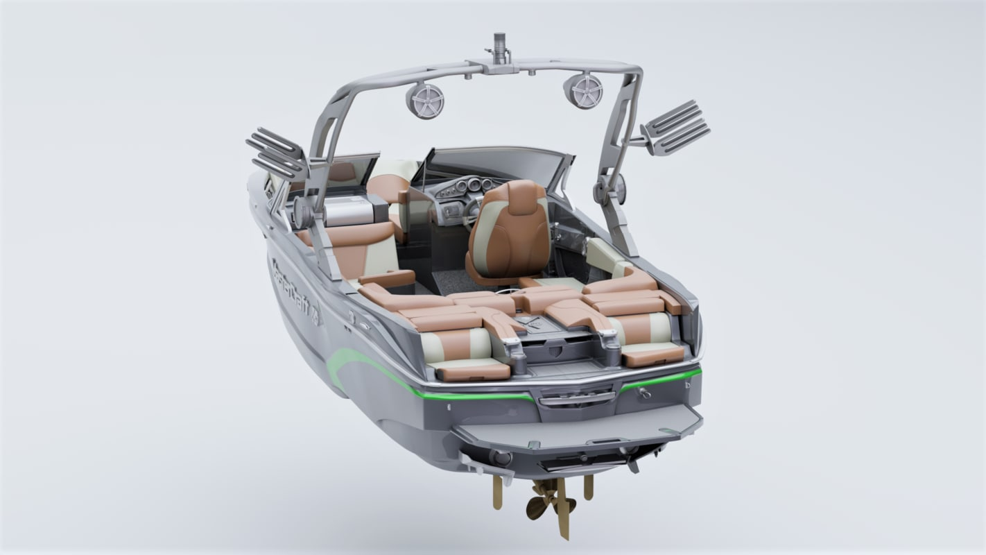 3D boat wakeboard model