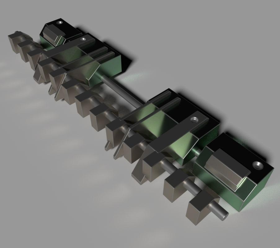 3D sci fi shaft