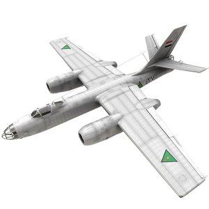 ilyushin il-28 bomber iraqi 3D model