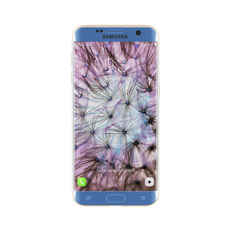 3D galaxy s7 edge blue