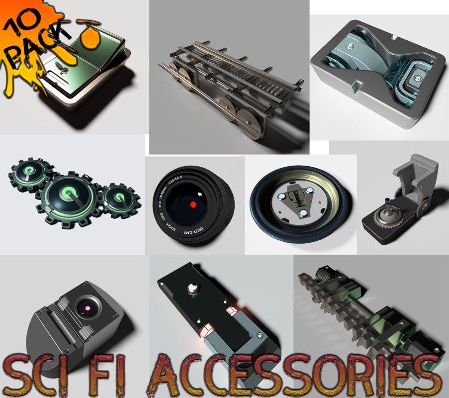 10 sci fi accessories model