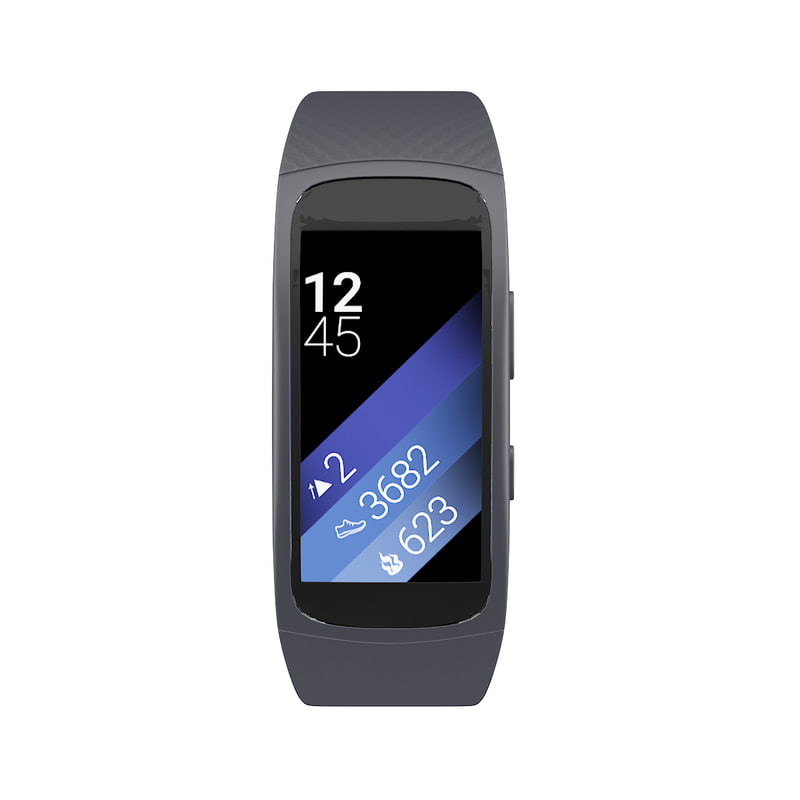 gear fit 2 smartwatch 3D model