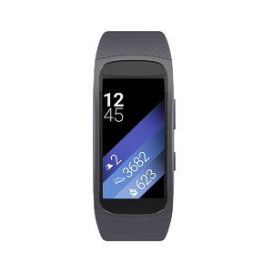 gear fit 2 smartwatch 3D model