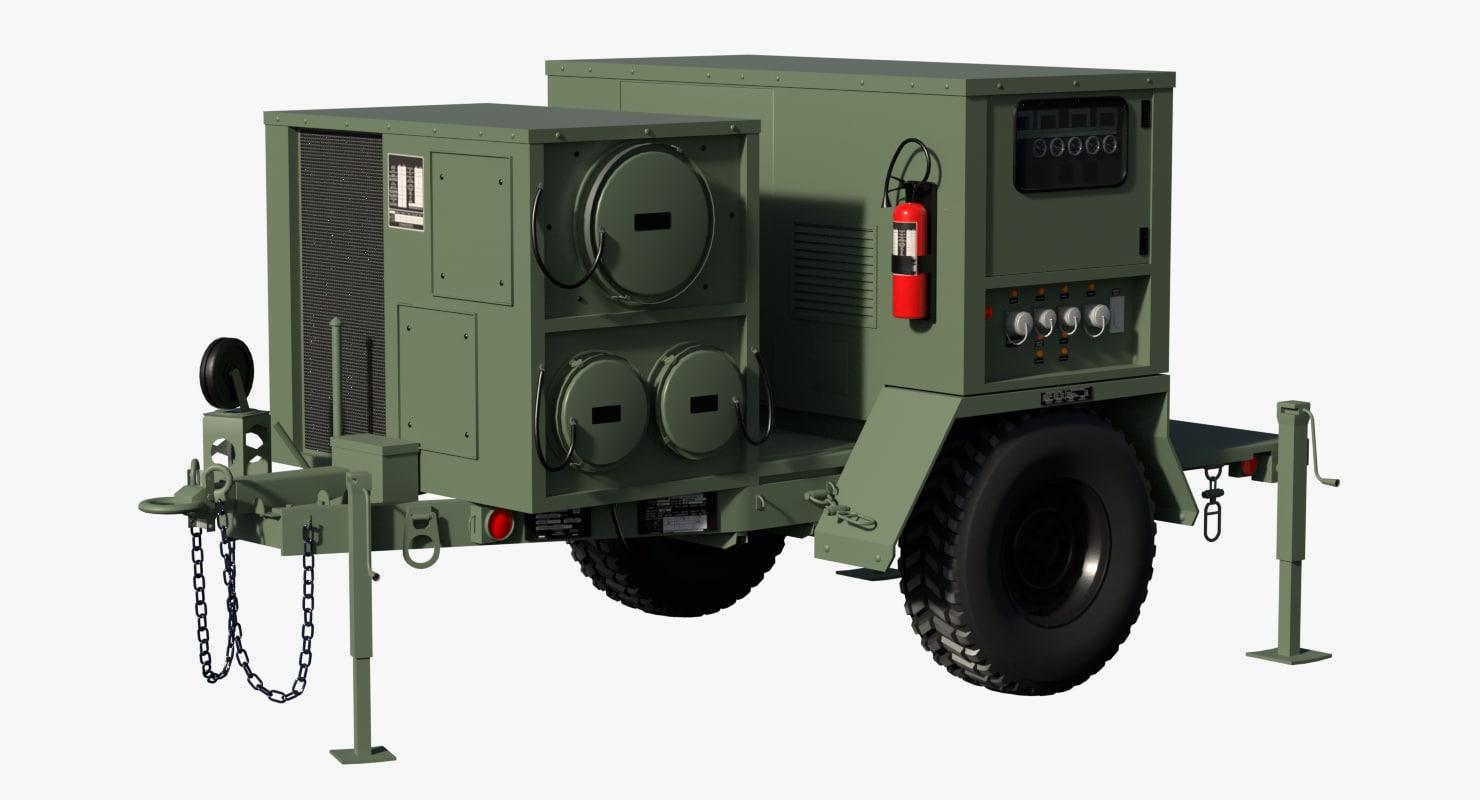 3D military power generator model