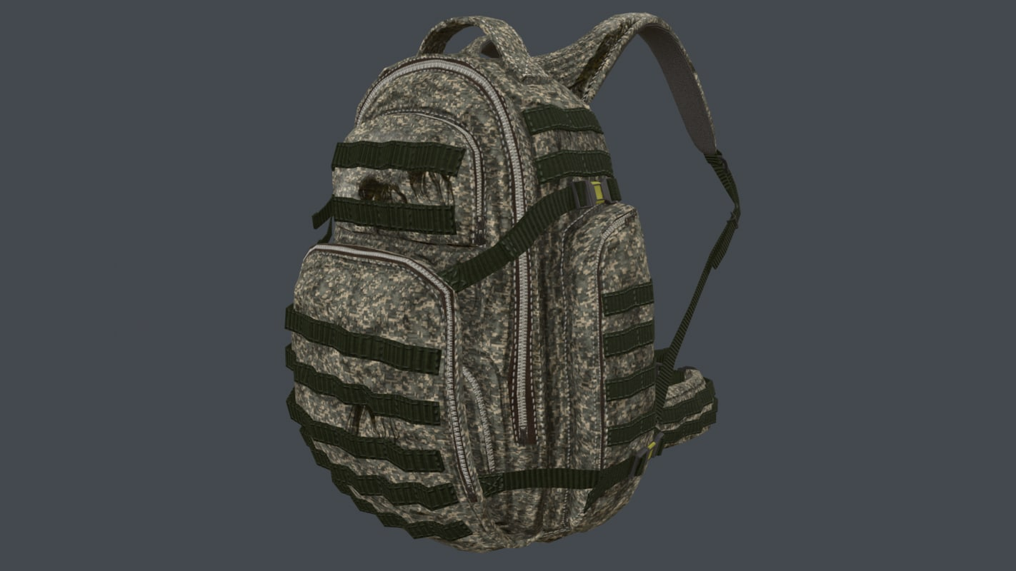 ucp camouflage backpack model