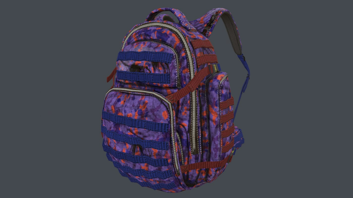 backpack camo pack 3D model