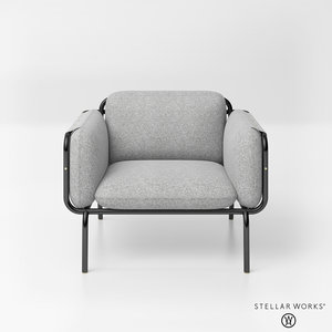 3D stellar works valet club chair
