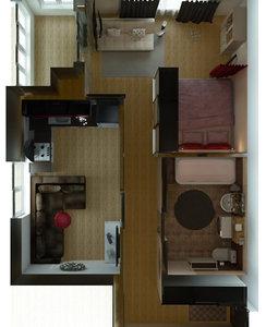 3D interior apartament