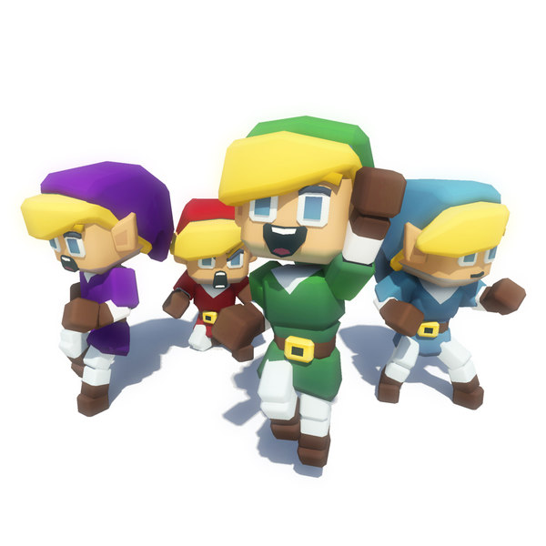 hero character elfs 3D model