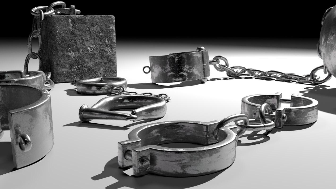 3D old shackles