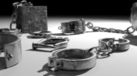 3D old shackles