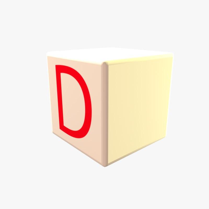 3D model donate cube